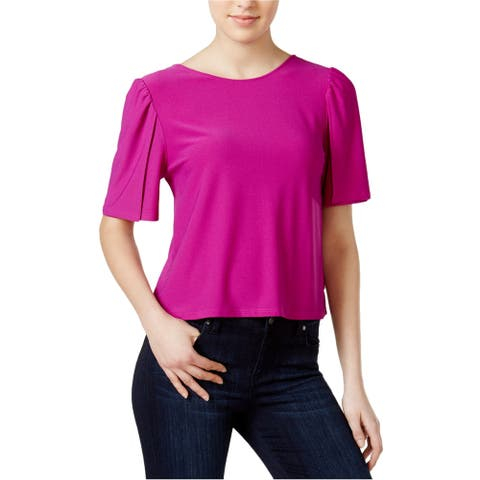 Kensie Womens Boe Back Knit Blouse