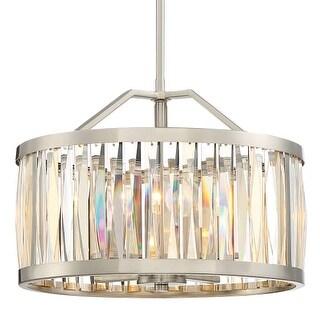"Platinum PCBL2817 Ballet 4 Light 17"" Wide Pendant with Crystal Accents"