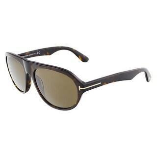 Tom Ford FT0397/S 52J IVAN Dark Havana Oval sunglasses - 58-17-145