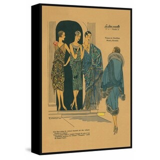 """Marmont Hill MH-VINFAS-04-BFF-36 36 Inch x 24 Inch """"Party Wear"""" Framed Giclee Pa - N/A"""