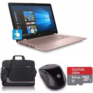 Hp 17 Bs027 Core I5 7200 2tb Hdd 3 Touchscreen Laptop Bundle With