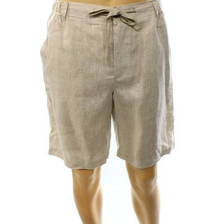 Tassi Elba NEW Beige Mens Size Medium M Lightweight Drawstring Shorts