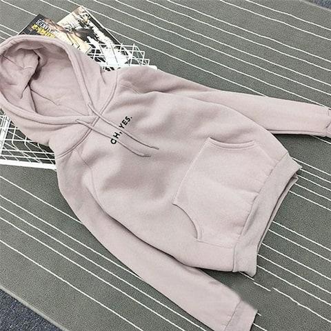 Winter New Hooded Sweater Female Loose Plus Velvet Thickening