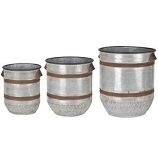 A & B Home D42552 Shelburne Planter Pots - Set of 3