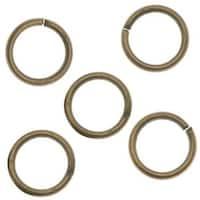 Antiqued Brass Open Jump Rings 6mm 20 Gauge (x100)