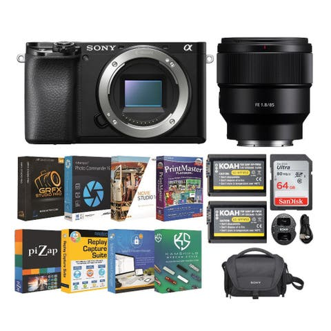 Sony Alpha a6100 APS-C Mirrorless Camera with 85mm f/1.8 Lens Bundle