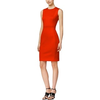 Calvin Klein Womens Wear to Work Dress Crepe Solid