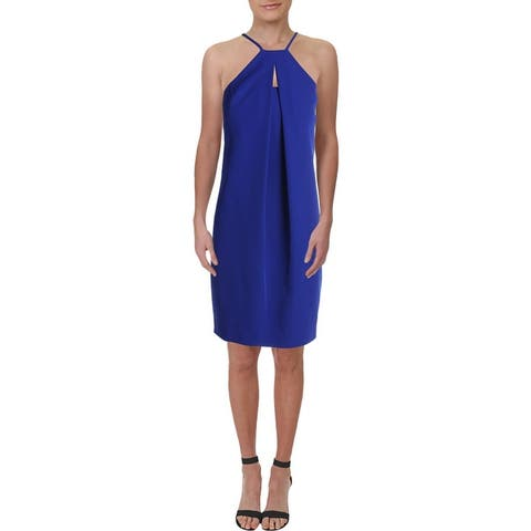 Trina Turk Womens Cocktail Dress Sleeveless Knee-Length - Blue
