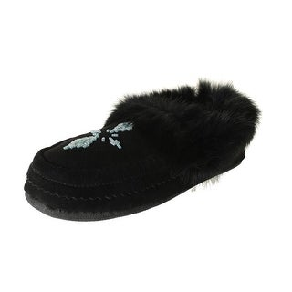 Pajar Womens Bianca Suede Wool Lined Moccasin Slippers - 41