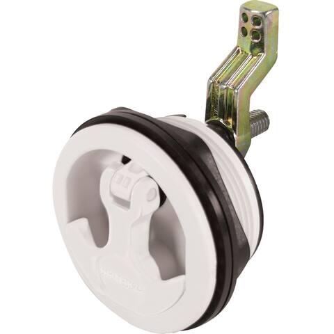 Whitecap t-handle latch white/white nylon non locking