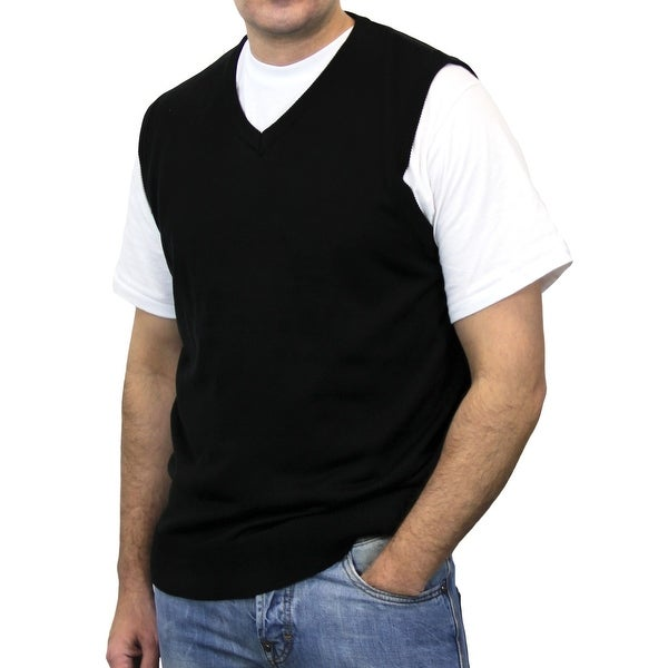 Big and Tall Men's Solid Sweater Vest - Free Shipping On Orders ...