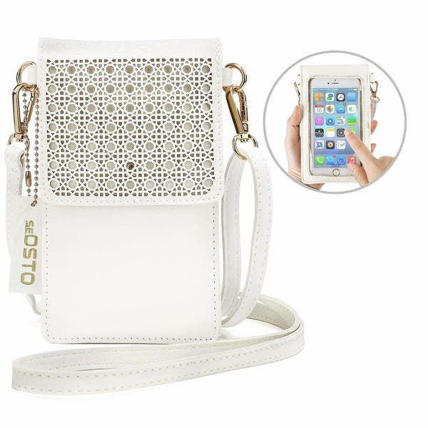 764f8275e4c Shop Small Crossbody Bag Cell Phone Purse Wallet with 2 Shoulder ...