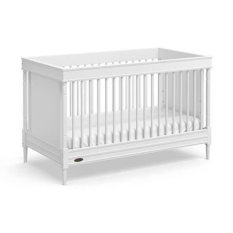 Graco Ashleigh 3-in-1 Convertible Crib, White, Easily Converts to Toddler Bed or Day Bed