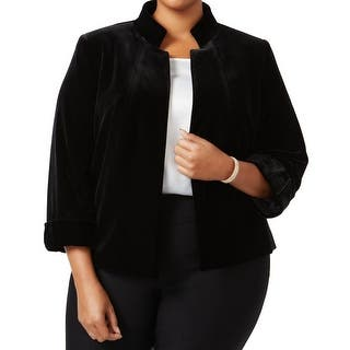 Tahari by ASL NEW Black Womens Size 18W Plus Velvet Flyaway Jacket|https://ak1.ostkcdn.com/images/products/is/images/direct/b631508d37ed1380be2598089215e0a457600311/Tahari-by-ASL-NEW-Black-Womens-Size-18W-Plus-Velvet-Flyaway-Jacket.jpg?impolicy=medium