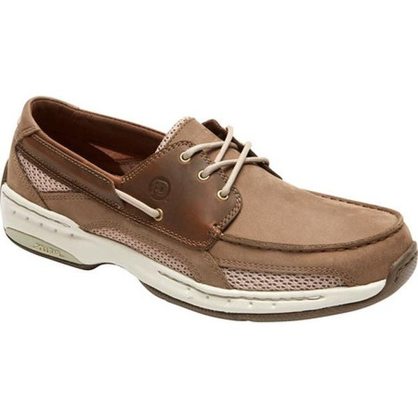 20562543ba9f Shop Dunham Men s Captain Mesh Two Tone Taupe Leather - Free ...