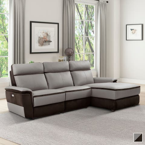 Barberton Power Modular Reclining Sectional Sofa with Right Chaise