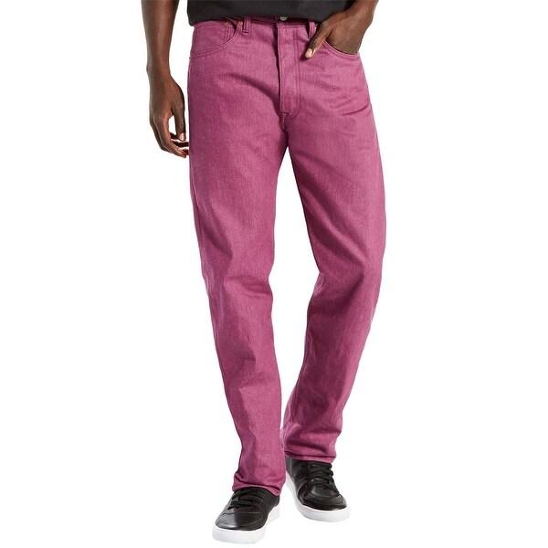 Shop Levis 501 Original Fit Grape Purple Straight Leg Jeans 32 X 34