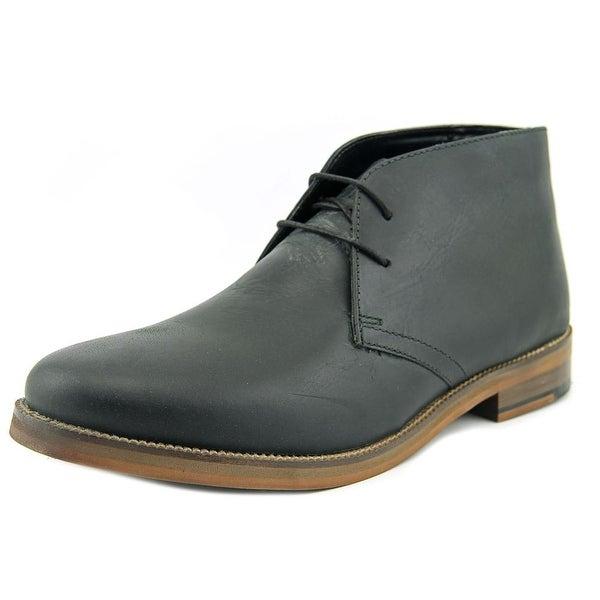 Crevo Dorville Men Round Toe Leather Black Chukka Boot