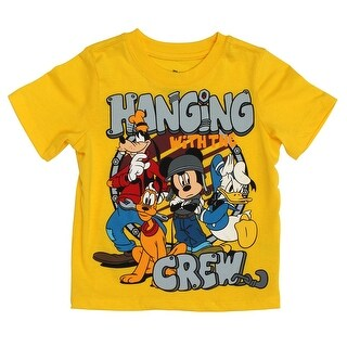 Disney Hanging with the Crew Toddlers Yellow T-Shirt - 3t