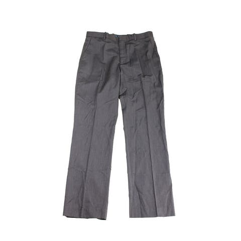 Perry Ellis Brown Striped Textured Pants - 32