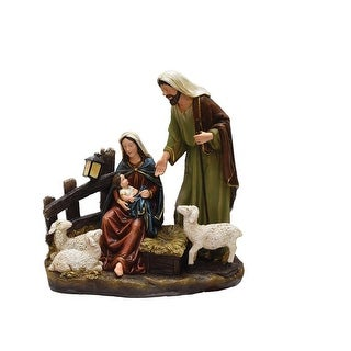 "13"" Nativity Scene with Joseph, Mary and Baby Jesus Religious Christmas Table Top Figure"