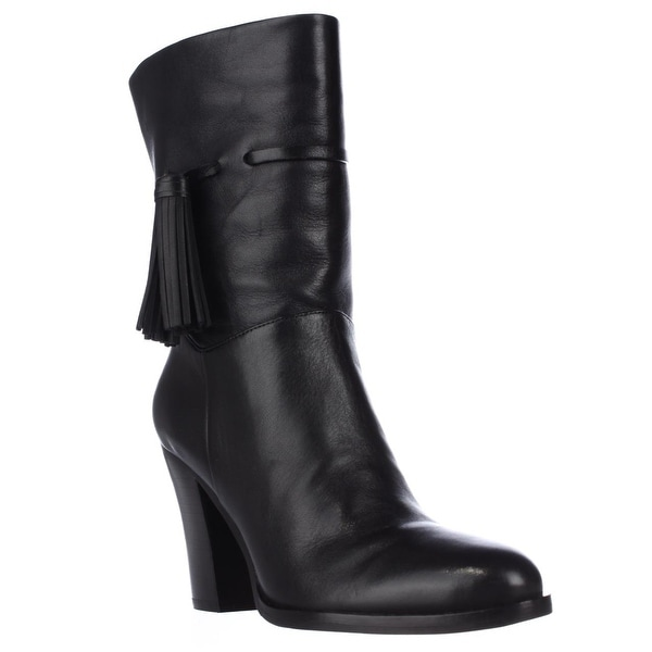 Marc Fisher Mara Mid-Calf Fashion Boots, Black Leather