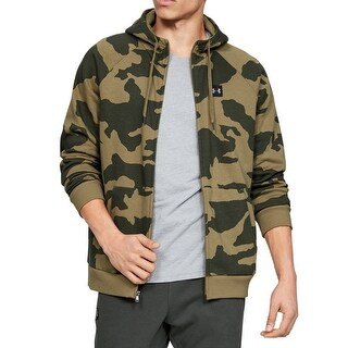 Link to Under Armour Mens Sweater Green Size Small S Rival Fleece Camo Hooded Similar Items in Athletic Clothing