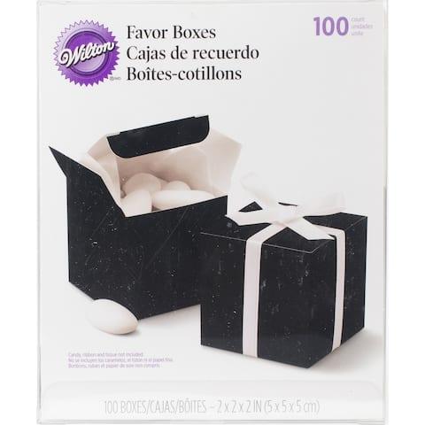 "Favor Boxes 2"" 100/Pkg-Black - Black"
