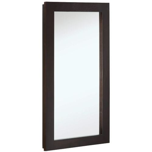 "Design House 541326 16"" Framed Single Door Mirrored Medicine Cabinet from the Ventura Collection"