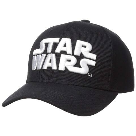 Official Star Wars Baseball Hat - Black/White 3D Logo