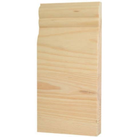 "Waddell BTBC-35 Center Base Trim Block Corner Moulding, 8"" x 3.75"" x 1"""