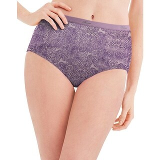 Hanes Women's No Ride Up Cotton Brief 6-Pack - Size - 7 - Color - Lace
