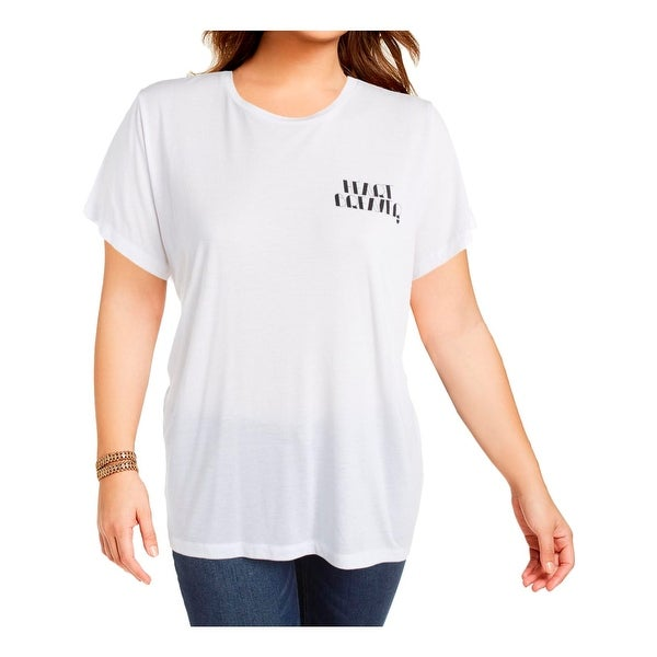 Rachel Rachel Roy Womens Plus T-Shirt Modal Casual