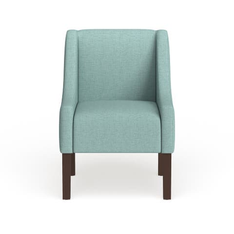Homepop Modern Swoop Arm Accent Chair - Aqua Blue