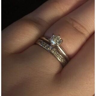 Auriya 10k Gold 1/4ct TDW Channel-set Diamond Ring