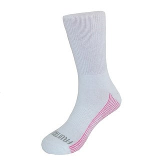 Fruit of the Loom Girl's Crew Socks (6 Pair Pack)