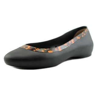 Crocs Lina Embellished Collar Women Round Toe Synthetic Flats