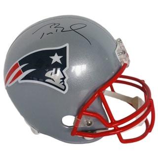 Tom Brady Signed New England Patriots Full Size Replica Helmet Tristar