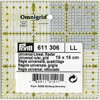 Omnigrid Metric Quilter's Ruler-15Cmx15cm W/Grid