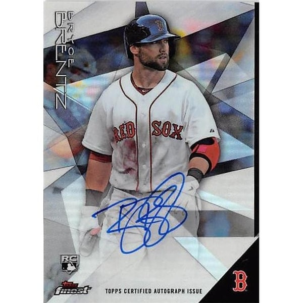 5b8ec794d4771 Shop Bryce Brentz Autographed Baseball Card - Boston Red Sox 2015 Topps -  Free Shipping On Orders Over  45 - Overstock - 23940360