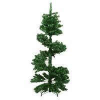 5.5' Spiral Pine Artificial Christmas Tree - Unlit - green