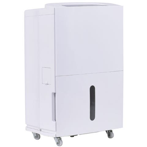 Costway Compact 30 Pint Dehumidifier 3 Speed Fan Timer Washable Air Filter Home 8L Tank
