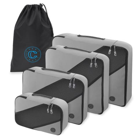 4-Pack, Luggage Organizer Set with Laundry Bag by Carry Craft