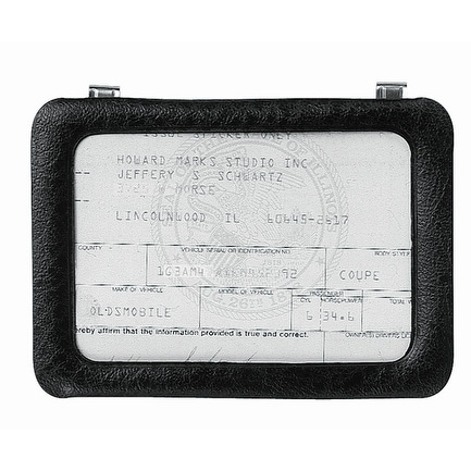 "Custom Accessories 43331 Clip-On Certificate Holder 3-3/8""x5-1/4"""
