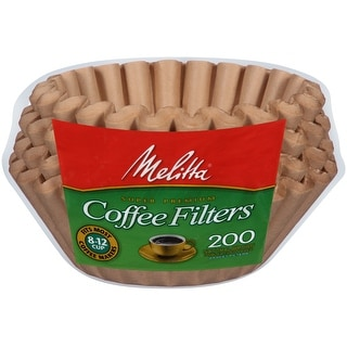 Melitta 8-12 Cup Basket Coffee Filters, Natural Brown, 200 Count