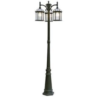 "Trans Globe Lighting 4189 3 Light Outdoor Post Lantern - 79"" Height Post Included"