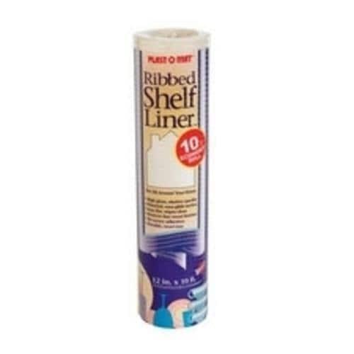 "Warp's SPM110-Q Plast-O-Mat Ribbed Shelf Liner, Bisque, 12"" X10'"