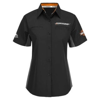 Harley-Davidson Women's Screamin' Eagle Competitor Crew, Black HARLLW0014