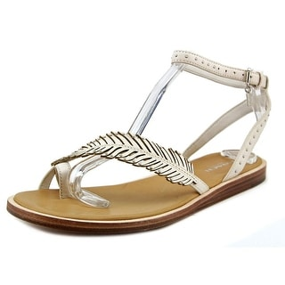 Coach Beach Women Open Toe Leather White Sandals