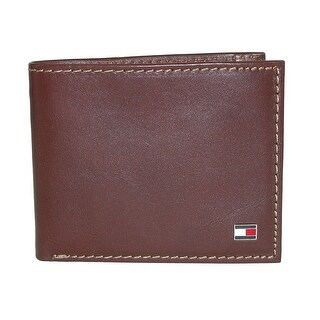 Tommy Hilfiger Men's Leather Logan Passcase Bifold Wallet with Zipper Bill Slot - One size